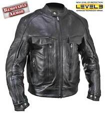 Men's Bandit Armored Buffalo Leather Motorcycle Jacket
