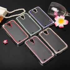 Bling Color Crystal Chain Clear Hard Cover Case Skin For Various Sony Cell phone
