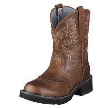 New Women's Ariat 10000860 Fatbaby Saddle Russet Rebel Leather Cowboy Boots