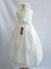 IVORY GRADUATION FORMAL FLOWER GIRL DRESS 18MO 2T 2 3 4 5 6 7 8 9 10 11 12 14