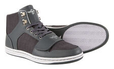 Fashion Faux Leather Texture Creative Recreation Cesario Pin Stripe Mid Top Shoe