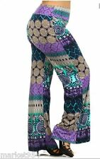 Ethnic Palazzo Pants Wide Leg Ethnic Bohemian Trousers Stretch tribal colored
