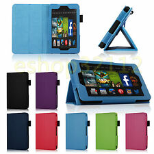 For 2014 Amazon Kindle Fire HD 6 Tablet PU Leather Folio Smart Fit Case Cover
