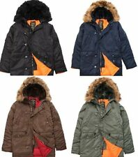 NEW ALPHA INDUSTRIES N-3B SLIM FIT PARKA JACKET AUTHENTIC MENS FAST SHIP WARM