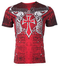 Xtreme Couture AFFLICTION Mens T-Shirt AFTERSHOCK Tattoo Biker MMA UFC S-3XL $40