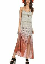 Super comfortable Geometric Print Maxi Dress with Split at the Front (111181)