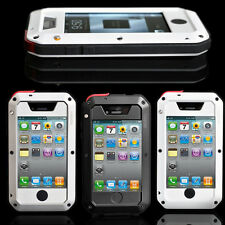 Aluminum Metal ShockProof DustProof Case Cover Glass For iPhone 4 4G 4S AU Stock