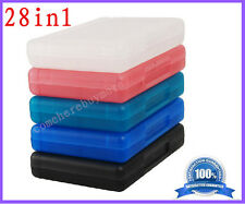 28in1 Protective Plastic Game&Memory Card Holder Cartridge Case for Nintendo 3DS