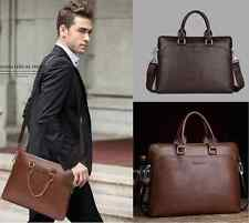 New Mens briefcase PU+leather Business Shoulder/messenger laptop bags 2014
