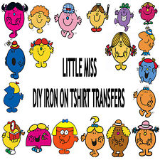 Little Miss Mr Men diy iron on tshirt transfers personalised