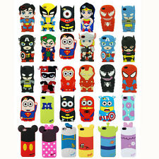 3D Cartoon Superhero Soft Silicone Rubber Case Cover For iPhone Samsung LG HTC 1