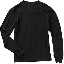 Men's thermal shirt Faded Glory long sleeve 100% cotton black sizes: S, M, 2XL.