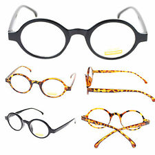 Unisex Small Retro Oval Plastic Frame Round Clear Lens Optical Eye Glasses New