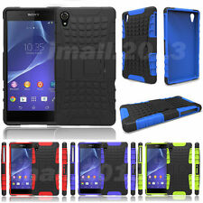 2 in 1 Hybrid High Impact Rugged Combo Kickstand Spider Case for Sony Xperia Z2