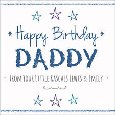 Fun Personalised BIRTHDAY CARD ~ DADDY From Your Little Rascal / Little Princess