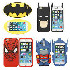 3D Kids Superhero Cartoon Series Soft Silicone Case Cover For iphone4/5/6/6 Plus