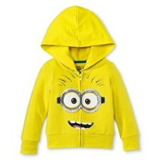 Despicable Me Infant Toddler Minion Zip Up Sparkle Hoodie - Yellow (NWT)