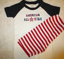 2PC NWTS Gymboree All American All Star Pajama Shorties Gymmies pjs Boys 3,6,10