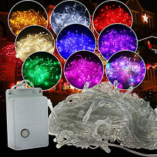 10M/20M 100/200LED Bulbs Christmas Fairy Outdoor String Lights Lamps Waterproof