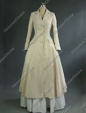 Victorian Edwardian Steampunk Punk Coat Dress Reenactment Period Costume C002