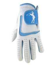 Ladies 100% Cabretta Leather Golf Glove With Blue Lycra