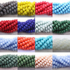 50100200X Top Quality Czech Glass Faceted Rondelle Bead Jewelry DIY 4/6/8/10mm