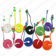 Flat Braided Fabric USB 2.0 Sync Data Charger Cable for i Phone 5 5C 5S 6 6 Plus