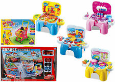 Kids Kitchen, Dressing Table, Doctor, Tools Pretended Play Set, Portable Stool