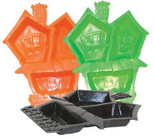 Haunted House Plastic Plate Food Candy Tray Halloween Decoration Party Supply