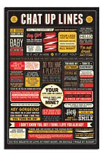 Chat Up Lines Infographic Poster Large New - Maxi Size 36 x 24 Inch