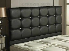 """26"""" HIGH REGAL FAUX LEATHER HEADBOARD IN 2ft6,3ft,4ft,4ft6,5ft,6ft, BRAND NEW!!"""