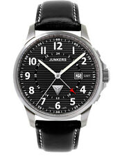 Junkers 6848-2  Tante JU Dual Time  GMT Watch