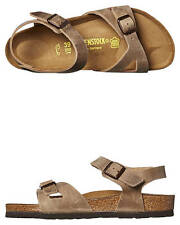 New Birkenstock Women's Rio Sandal Leather Shoes Brown