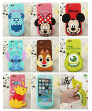 Kids 3D Cute Cartoon Big Head Soft Silicone Half Full Case Cover For Cell Phone