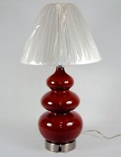 Cranberry Ceramic Table/Desk Lamp w/Dimmer Switch & Optional Shade #2840761