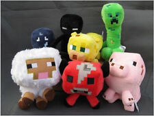 For Minecraft Enderman Baby Mooshroom Pig Squid Ocelot Creeper Plush Soft Toy