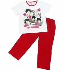 One Direction Official Girls Pyjama Set 1D Red White Boy Band Group