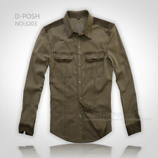 New Jeep Mens Military Safari Shirt Green