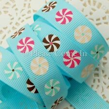 "Whirling Circle Grosgrain Ribbon Baby Blue 16mm (5/8"")"