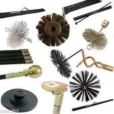 DRAIN ROD RODS SET FLUE CHIMNEY DRAIN BRUSH WORM SCREW PLUNGER DROP SCRAPER