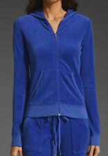 JENNI by Jennifer Moore Women's Velour Full Zip Hoodie NWT in Blue , XS