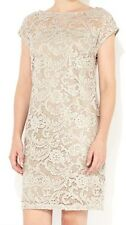 WALLIS EXCLUSIVE BLOG FAV. TAILORED EMBELLISHED CHAMPAGNE LACE DRESS SIZES 10-12