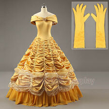 Beauty and the Beast Adult Costumes Luxurious Princess Belle Dress Cosplay