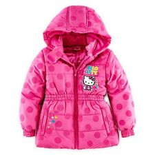 HELLO KITTY SANRIO Pink Winter Coat Puffer Jacket NWT Girls Size 7, 8 or 12  $75