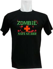 New Zombie Safe Guard Apocalypse Rescuer Squad Team B/W Fun T-Shirt Size S-3XL