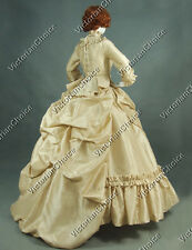 Victorian Bustle Period Dress Ball Gown Reenactment Clothing Theatre Quality 330