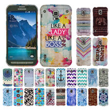 For Samsung Galaxy S5 Active G870A Zig Zag Snap On HARD Case Cover Accessory