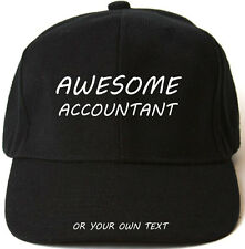 AWESOME ACCOUNTANT PERSONALISED BASEBALL CAP HAT XMAS GIFT