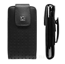 Premium Vertical Leather Holster Fixed Swivel Belt Clip Case for Alcatel Phones