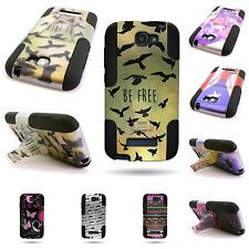 For Alcatel One Touch Fierce 2 Pop Icon A564c Dual Layer Hybrid Cover Phone Case